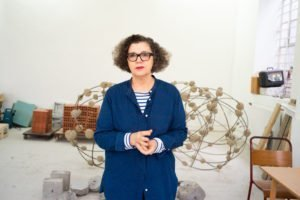 Mona Hatoum photographed by Alex Schneideman at her studio in London