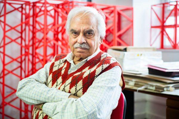 Rasheed Araeen, photographed in his studio by Alex Schneideman, London 16/3/19